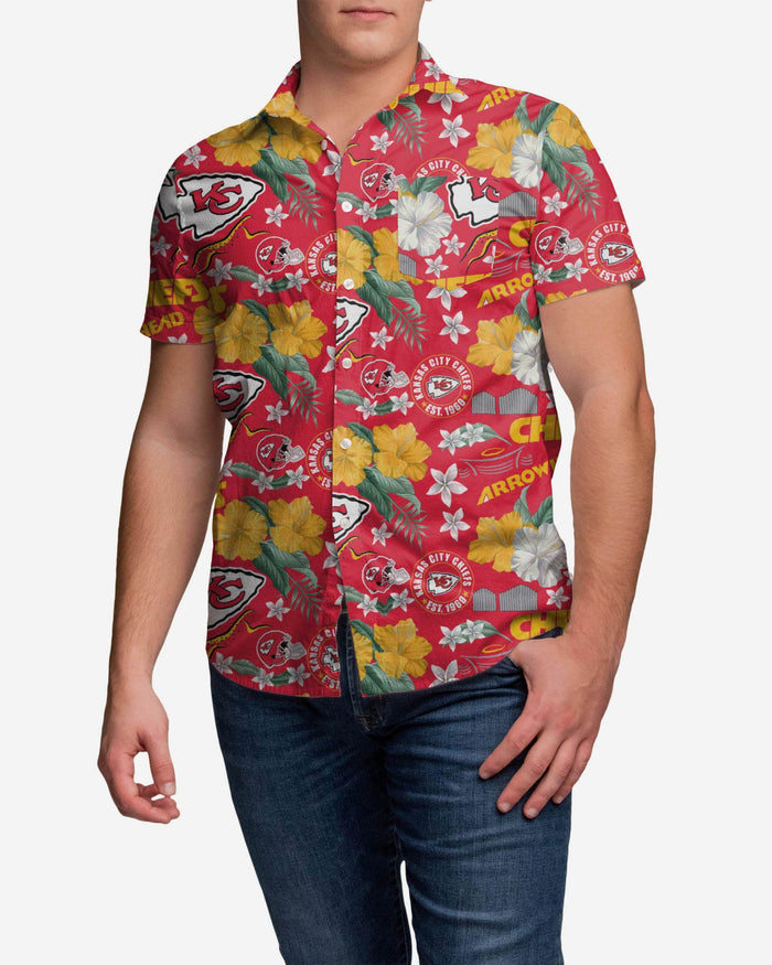 Kansas City Chiefs City Style Button Up Shirt FOCO S - FOCO.com
