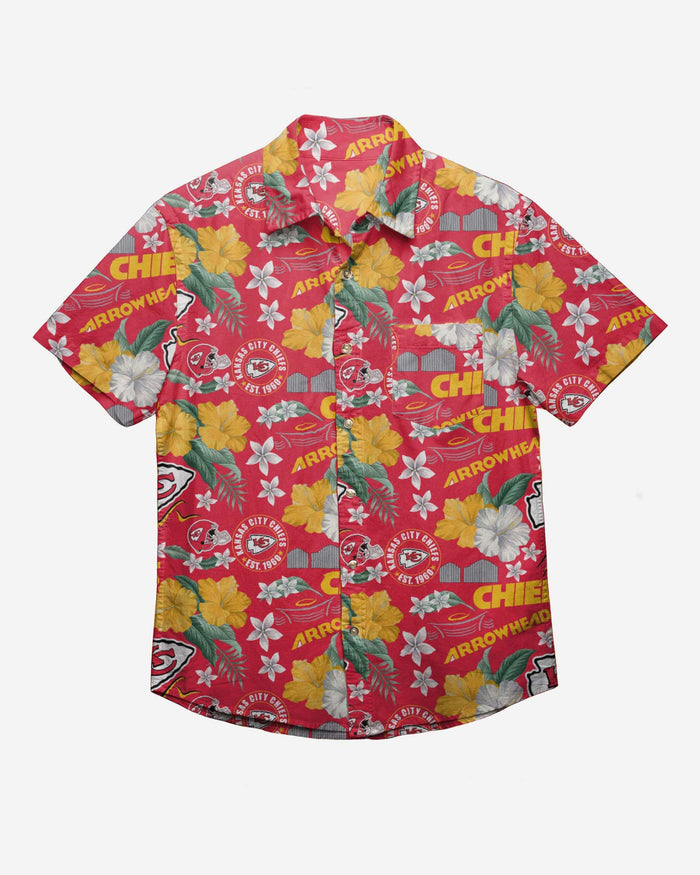 Kansas City Chiefs City Style Button Up Shirt FOCO - FOCO.com