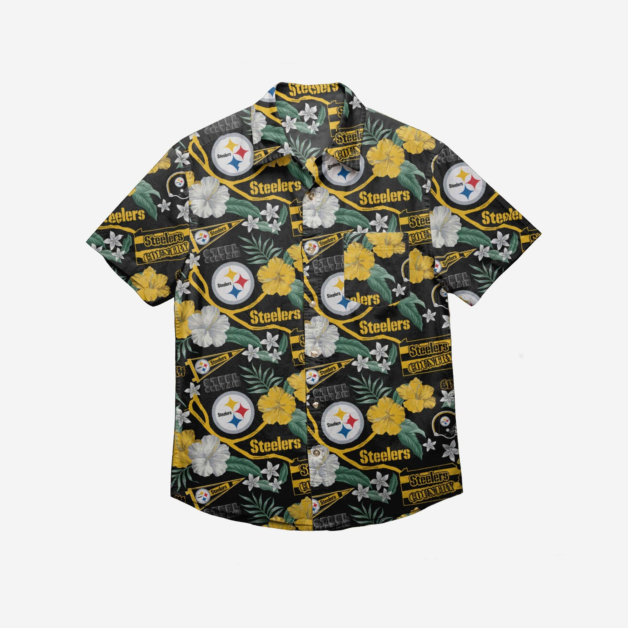 Pittsburgh Steelers City Style Button Up Shirt FOCO - FOCO.com