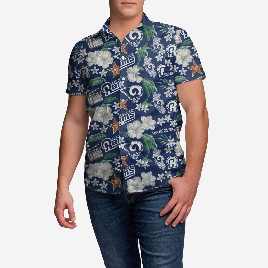 Los Angeles Rams City Style Button Up Shirt FOCO - FOCO.com
