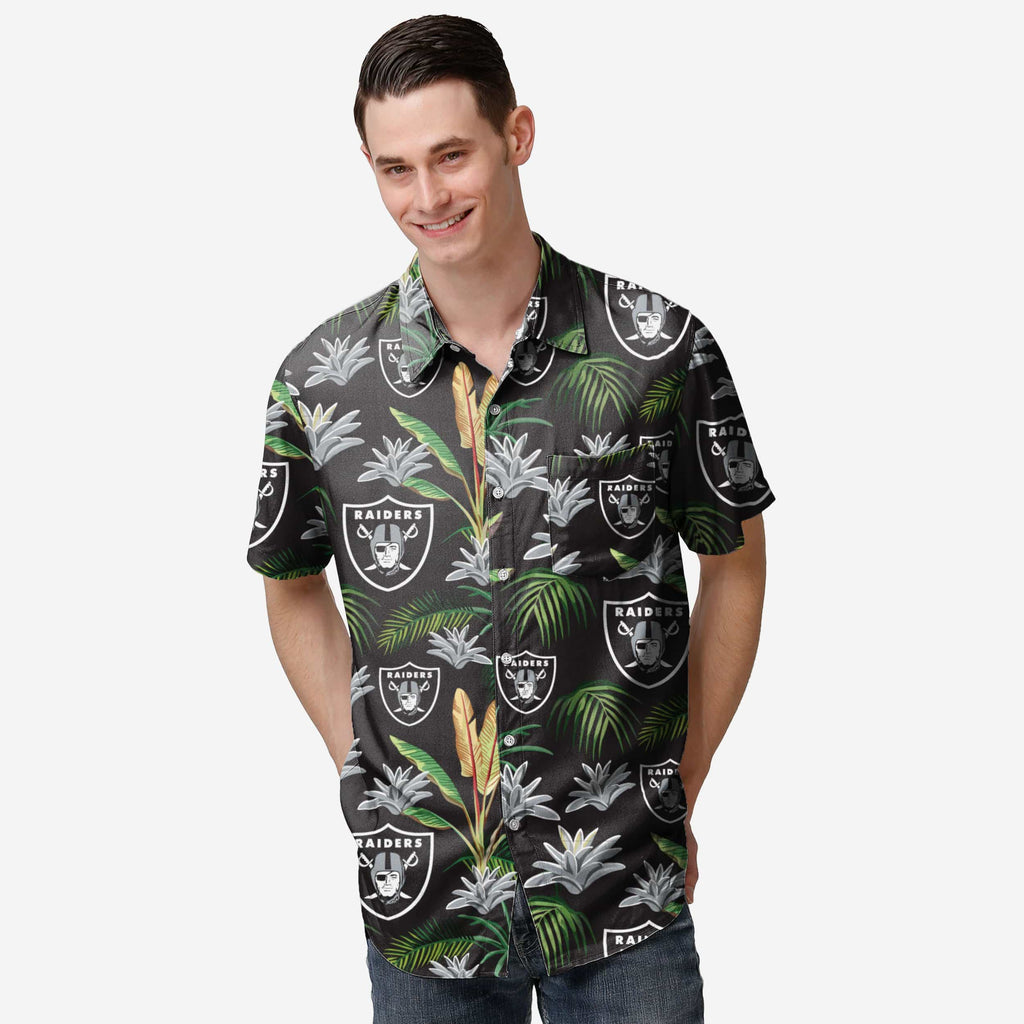 Las Vegas Raiders Victory Vacay Button Up Shirt FOCO S - FOCO.com