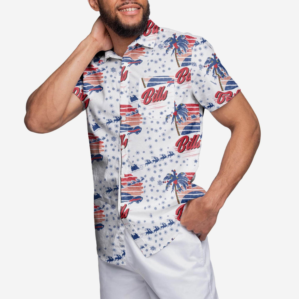 Buffalo Bills Winter Tropical Button Up Shirt FOCO - FOCO.com
