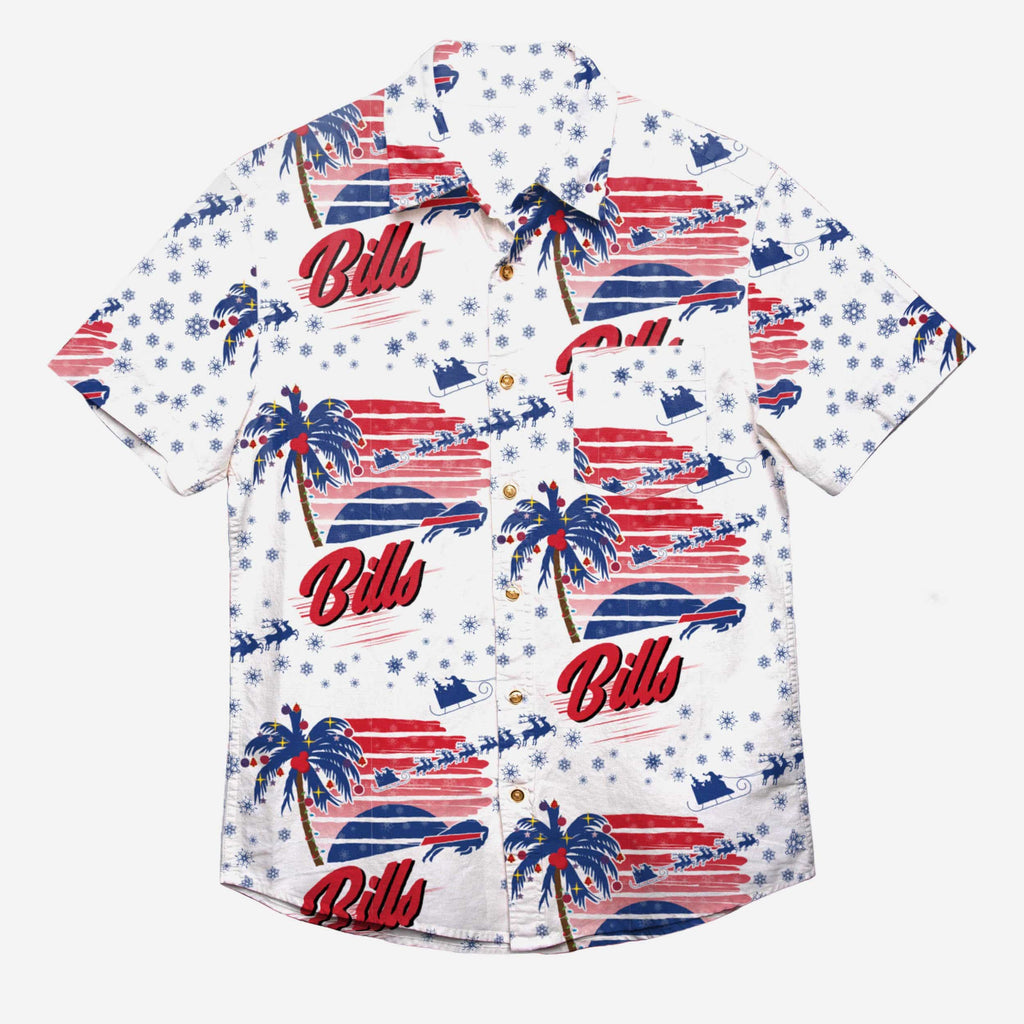 Buffalo Bills Winter Tropical Button Up Shirt