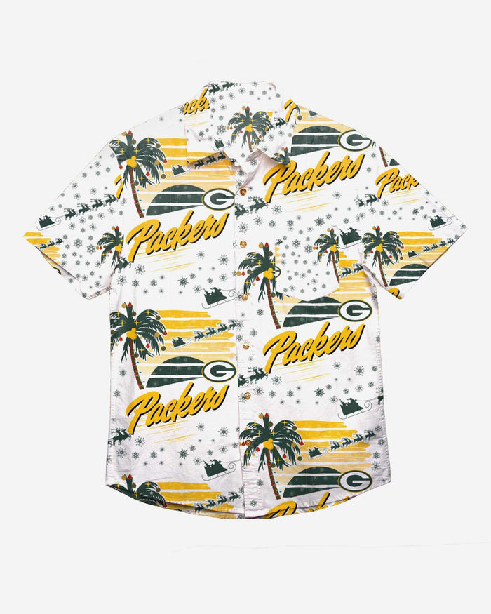 Green Bay Packers Winter Tropical Button Up Shirt FOCO - FOCO.com