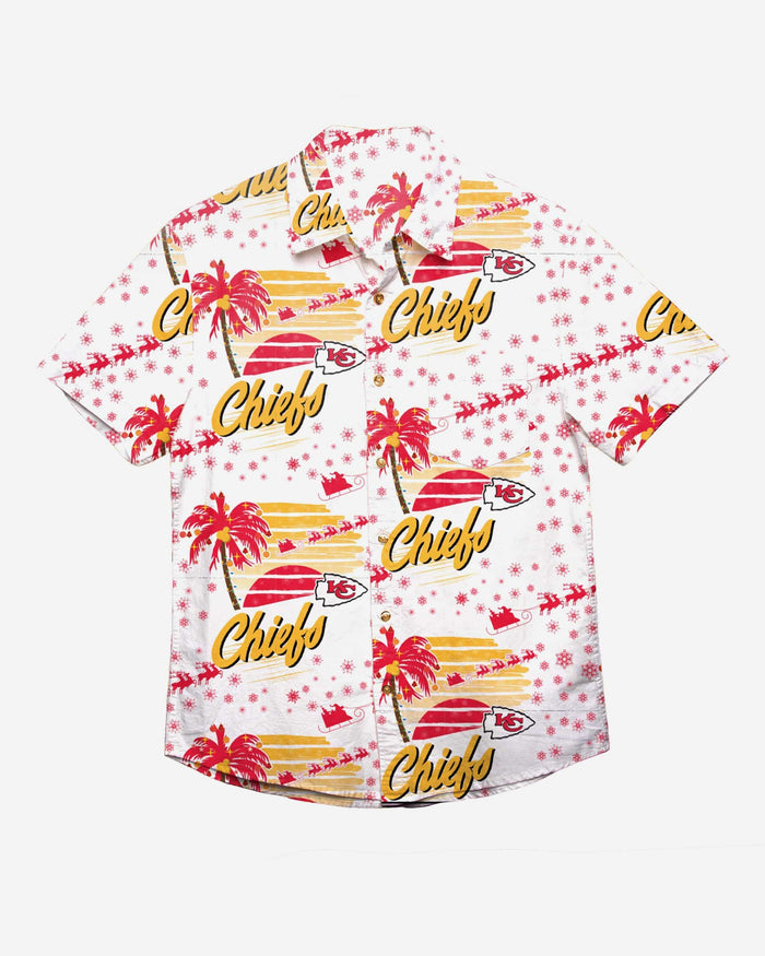 Kansas City Chiefs Winter Tropical Button Up Shirt FOCO - FOCO.com