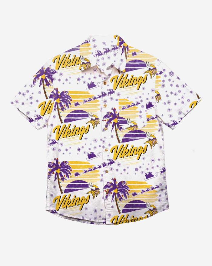 Minnesota Vikings Winter Tropical Button Up Shirt FOCO - FOCO.com
