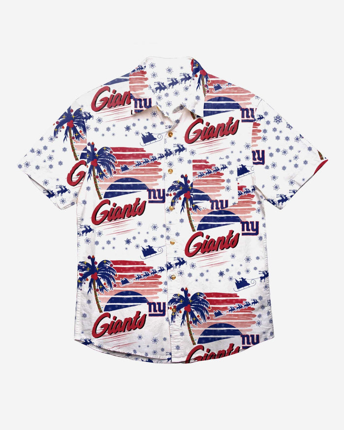 New York Giants Winter Tropical Button Up Shirt FOCO - FOCO.com