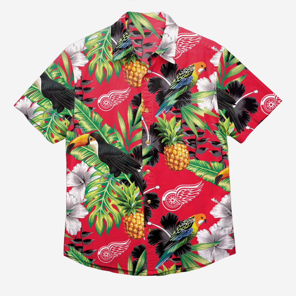 Detroit Red Wings Floral Button Up Shirt