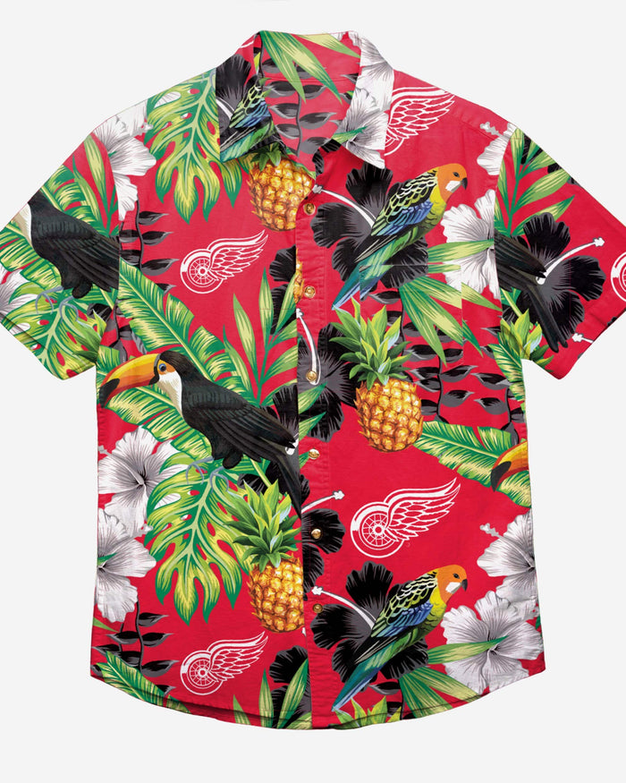 Detroit Red Wings Floral Button Up Shirt FOCO - FOCO.com