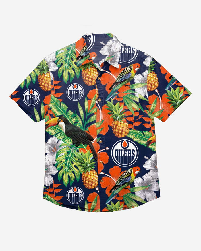 Edmonton Oilers Floral Button Up Shirt FOCO - FOCO.com