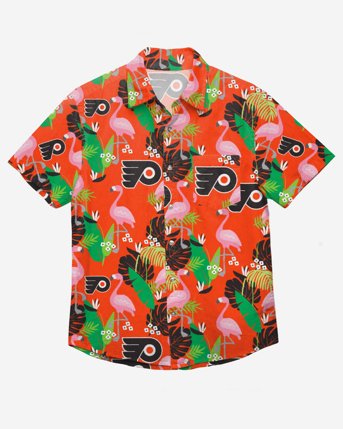 Philadelphia Flyers Floral Button Up Shirt FOCO - FOCO.com