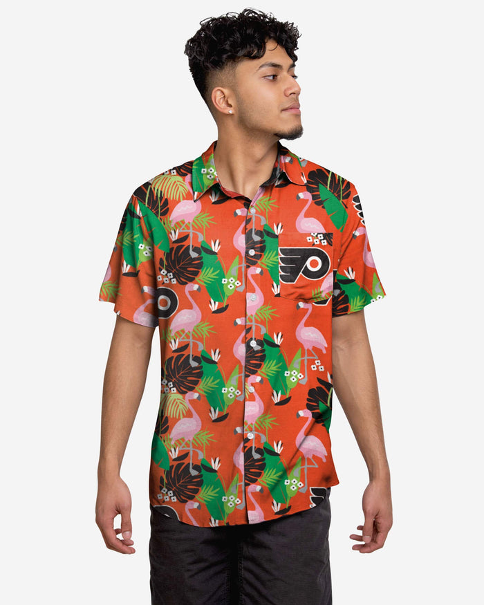 Philadelphia Flyers Floral Button Up Shirt FOCO 2XL - FOCO.com
