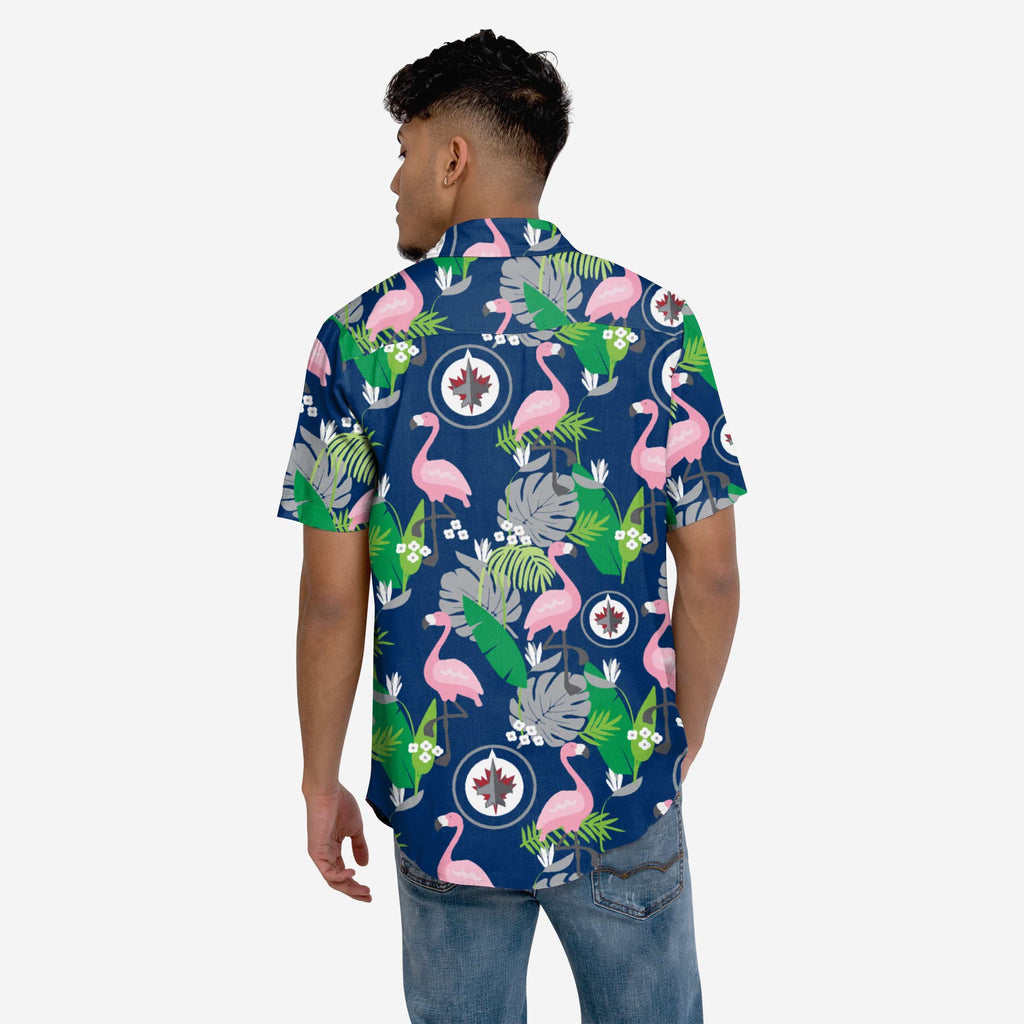 Winnipeg Jets Floral Button Up Shirt FOCO S - FOCO.com