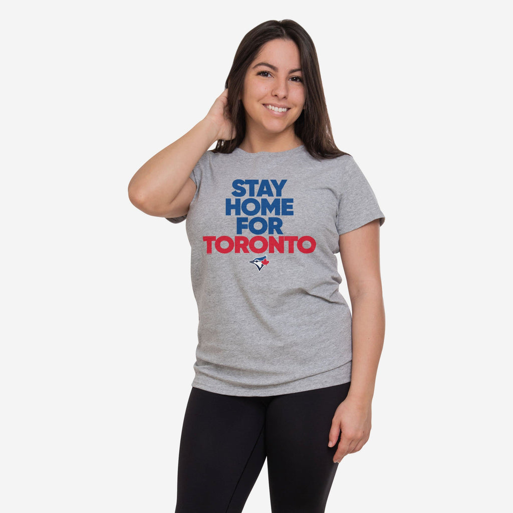 Toronto Blue Jays Womens Stay Home City T-Shirt FOCO S - FOCO.com