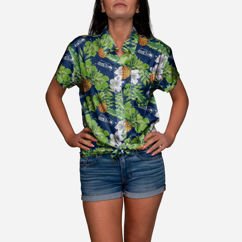 Seattle Seahawks My Fine-Apple Womens Button Up Shirt FOCO - FOCO.com