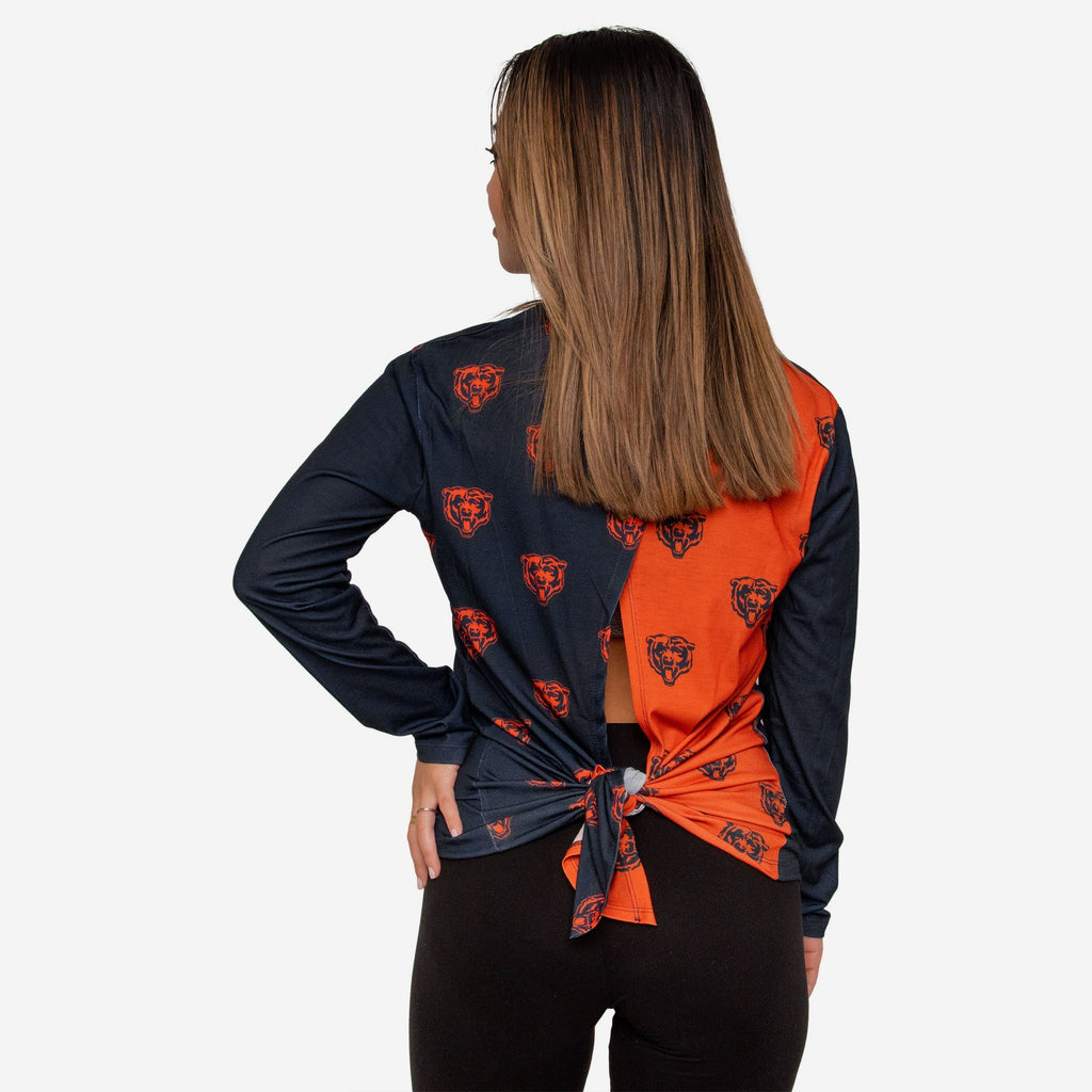 Chicago Bears Womens Tie-Breaker Long Sleeve Top FOCO S - FOCO.com