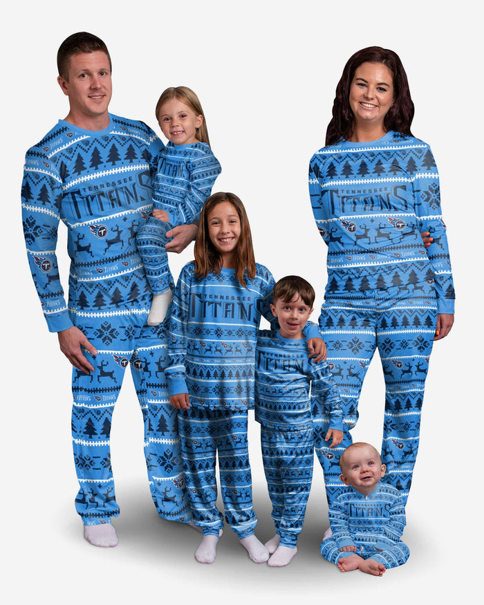 Tennessee Titans Youth Family Holiday Pajamas FOCO - FOCO.com