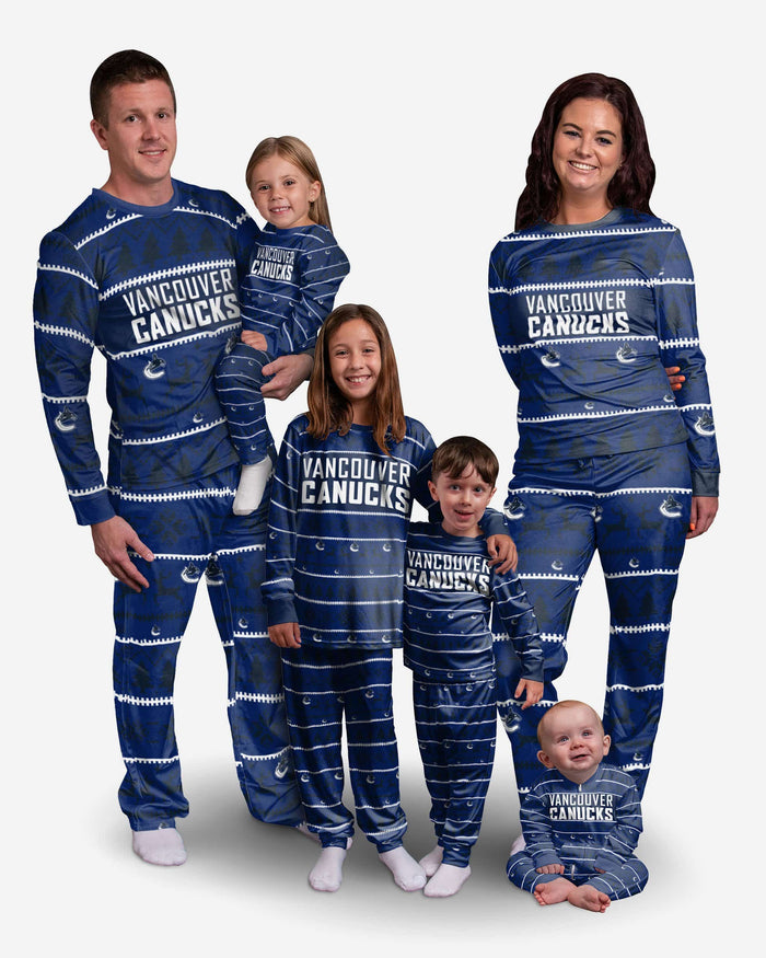 Vancouver Canucks Toddler Family Holiday Pajamas FOCO - FOCO.com