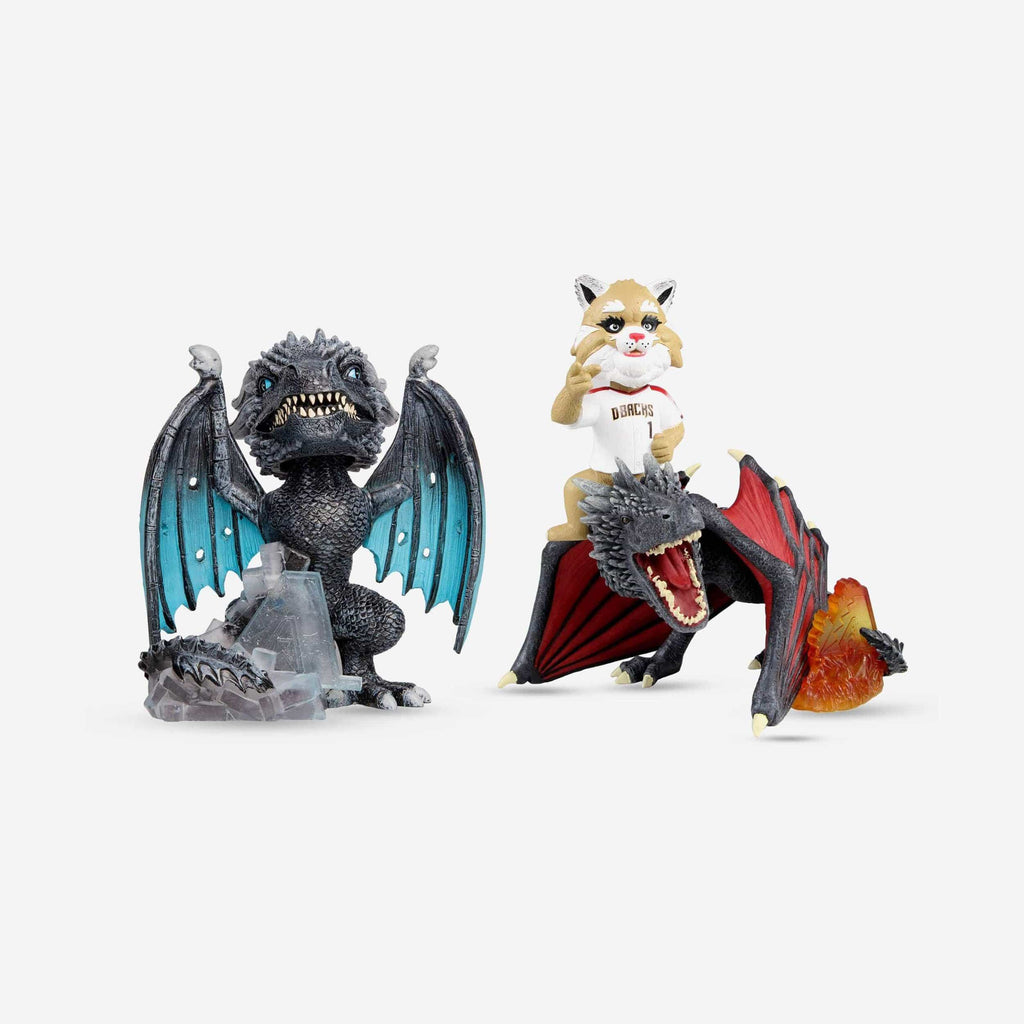 Arizona Diamondbacks Game Of Thrones Fire Dragon & Ice Dragon Bobbleheads Set FOCO - FOCO.com