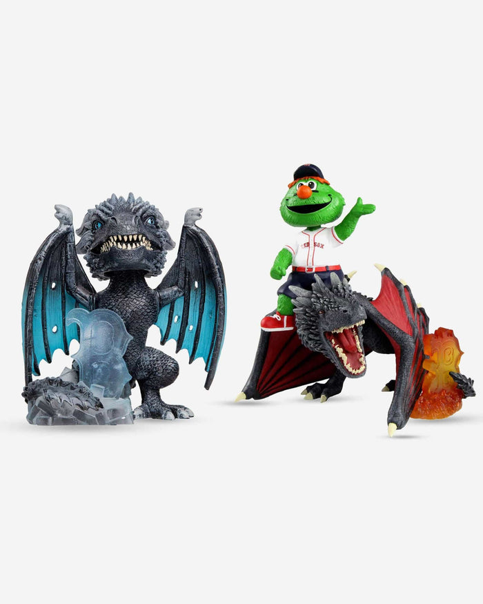 Boston Red Sox Game Of Thrones Fire Dragon & Ice Dragon Bobbleheads Set FOCO - FOCO.com