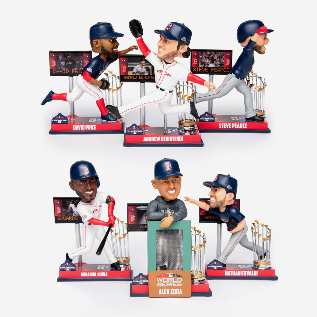 Boston Red Sox World Series Special Moment Bobbleheads Set