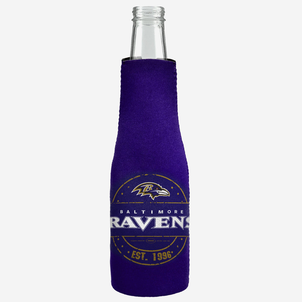 Baltimore Ravens Insulated Zippered Bottle Holder