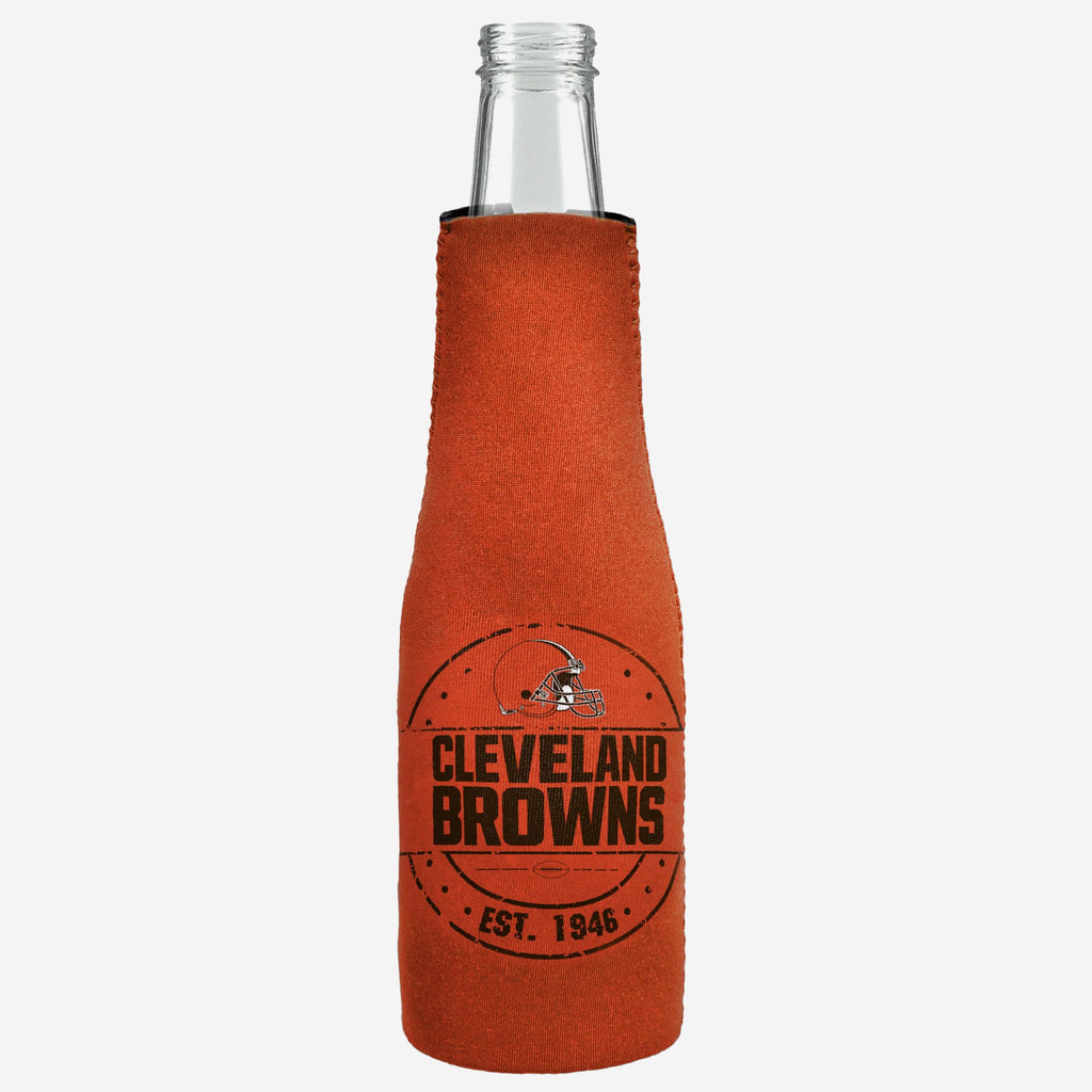 Cleveland Browns Insulated Zippered Bottle Holder