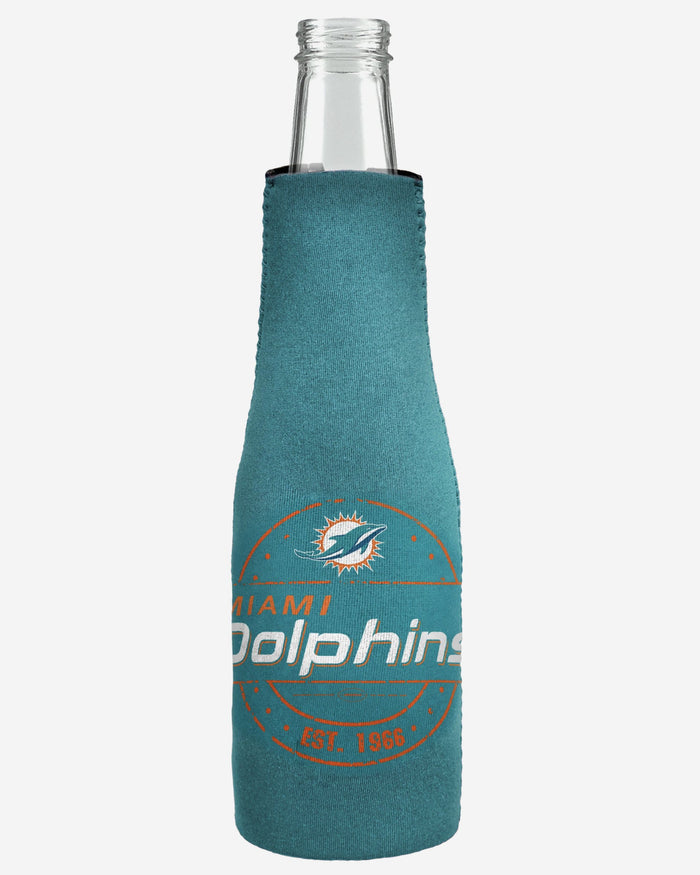 Miami Dolphins Insulated Zippered Bottle Holder FOCO - FOCO.com