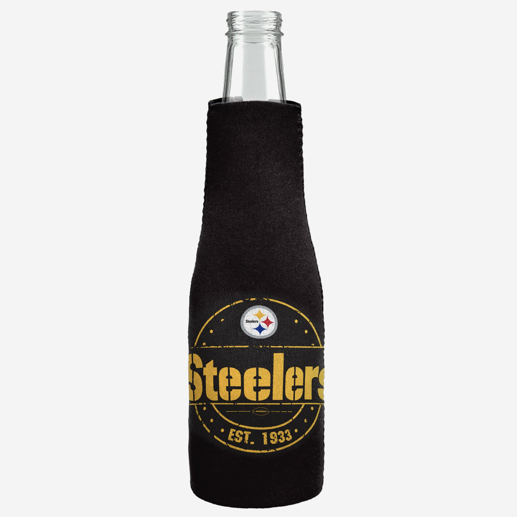 Pittsburgh Steelers Insulated Zippered Bottle Holder FOCO - FOCO.com