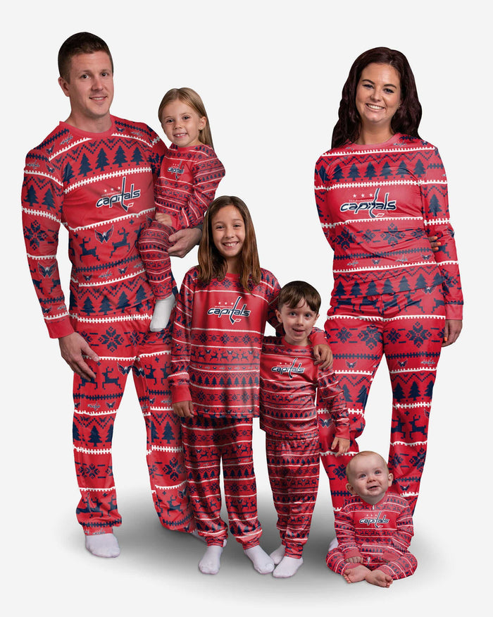 Washington Capitals Toddler Family Holiday Pajamas FOCO - FOCO.com