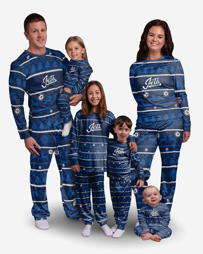 Winnipeg Jets Womens Family Holiday Pajamas FOCO - FOCO.com