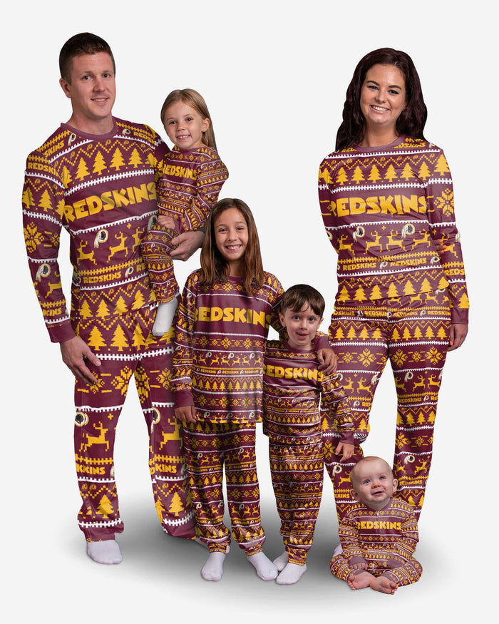 Washington Redskins Youth Family Holiday Pajamas FOCO - FOCO.com
