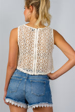 Ladies fashion floral crochet lace crop top
