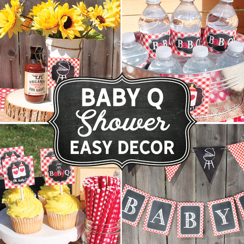 Easy Baby Q Decorations for a Summer Baby Shower When You're Busy!
