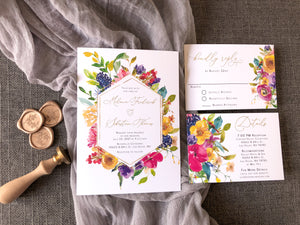 Must See Bright Floral Wedding Invitations Your Guests Will Love