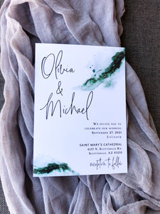 Green Watercolor Wedding Invitations Your Guests Will Be Talking About!