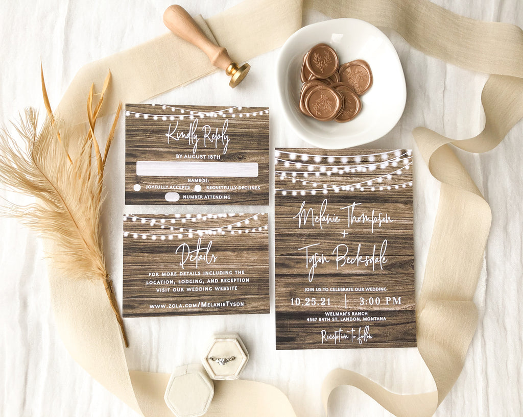 These rustic wedding invitations will make you want a country wedding!