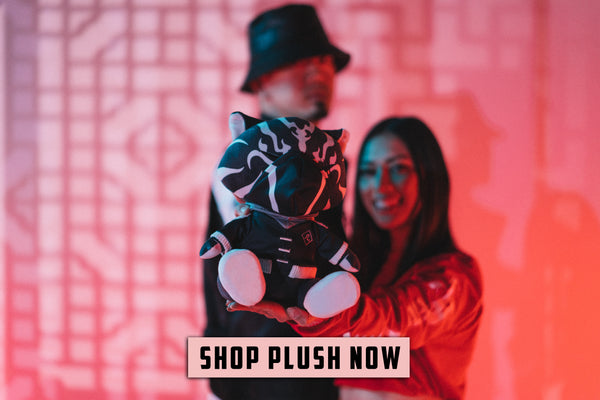 Shop plush button