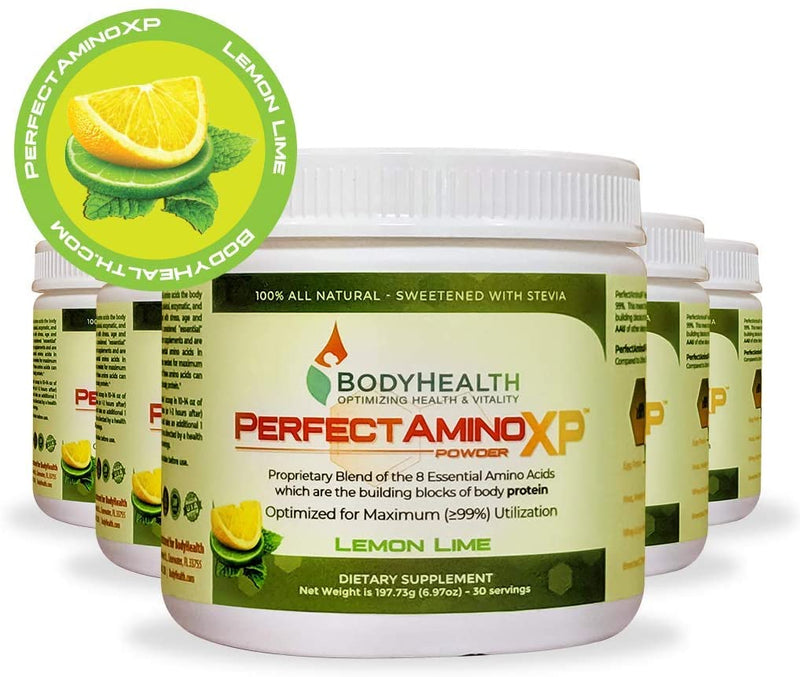 PerfectAmino XP - Lemon Lime - Pre/Post Workout Recovery, 8 Essential Amino Acids