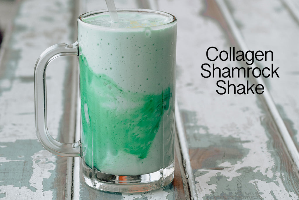 Recipe: Collagen Shamrock Shake!