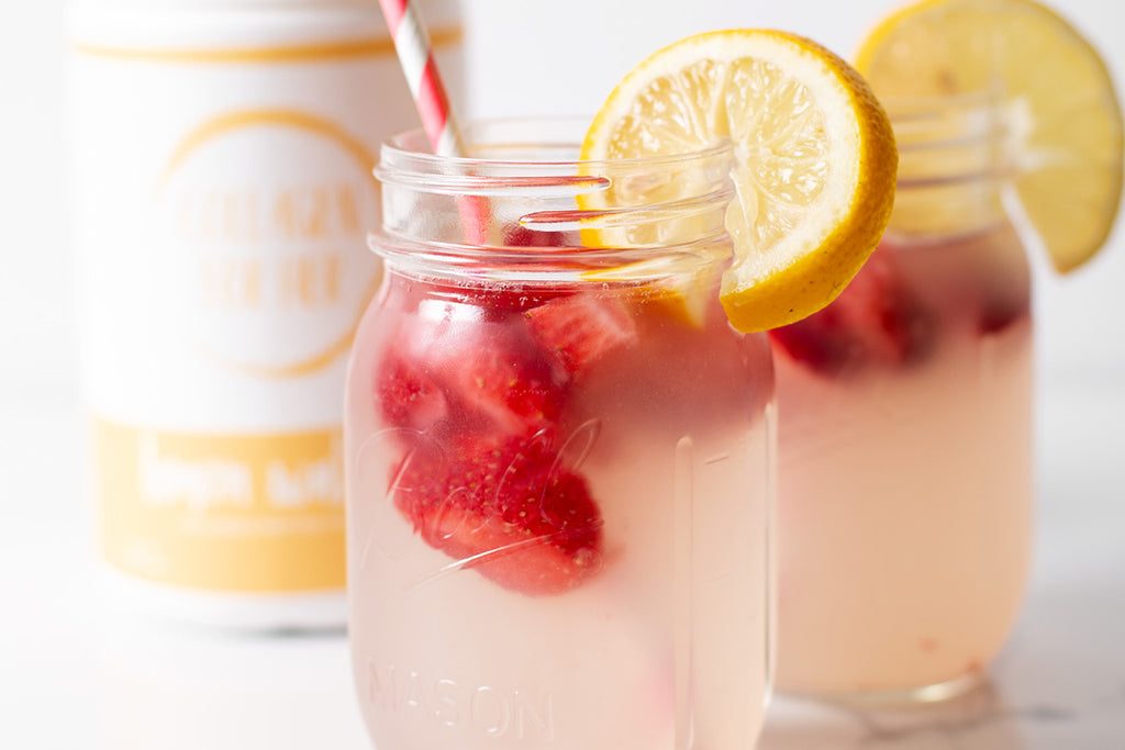 Recipe: Collagen Strawberry Lemonade!