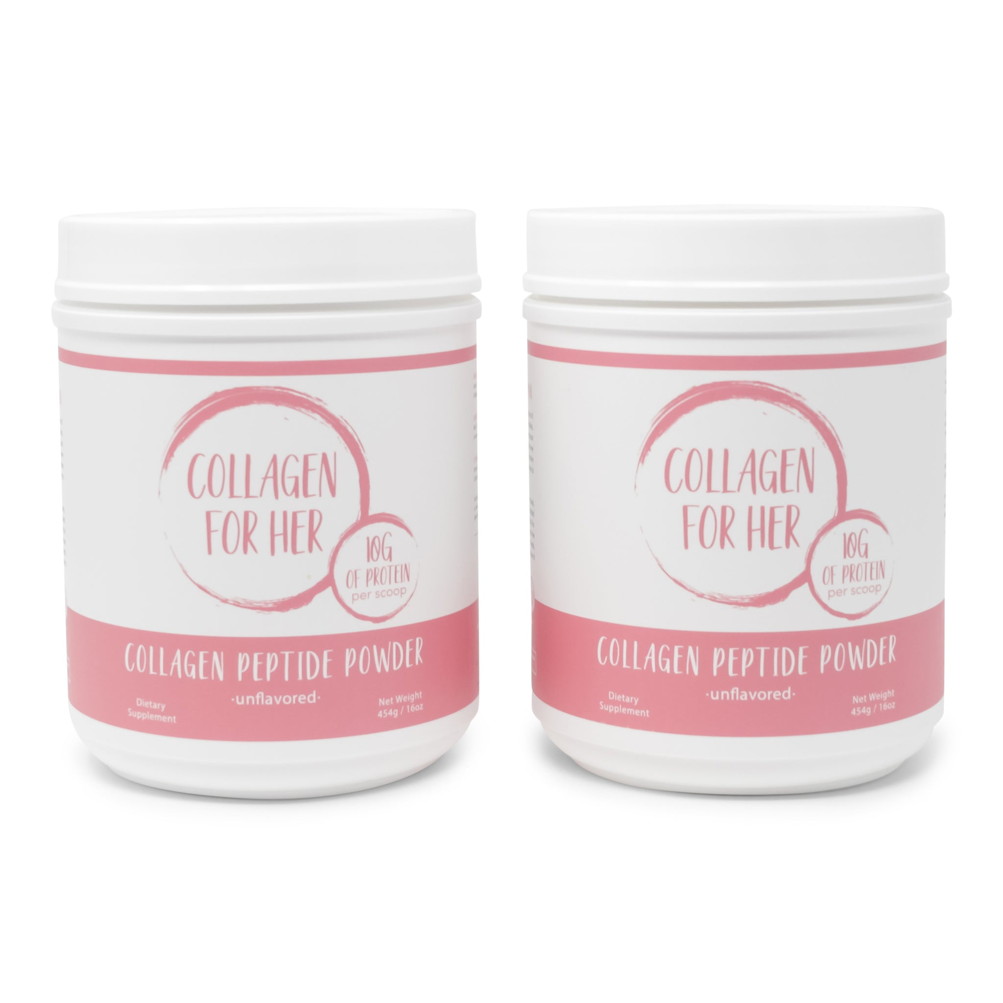 Unflavored Collagen Peptides: 2-Pack Bottle Bundle
