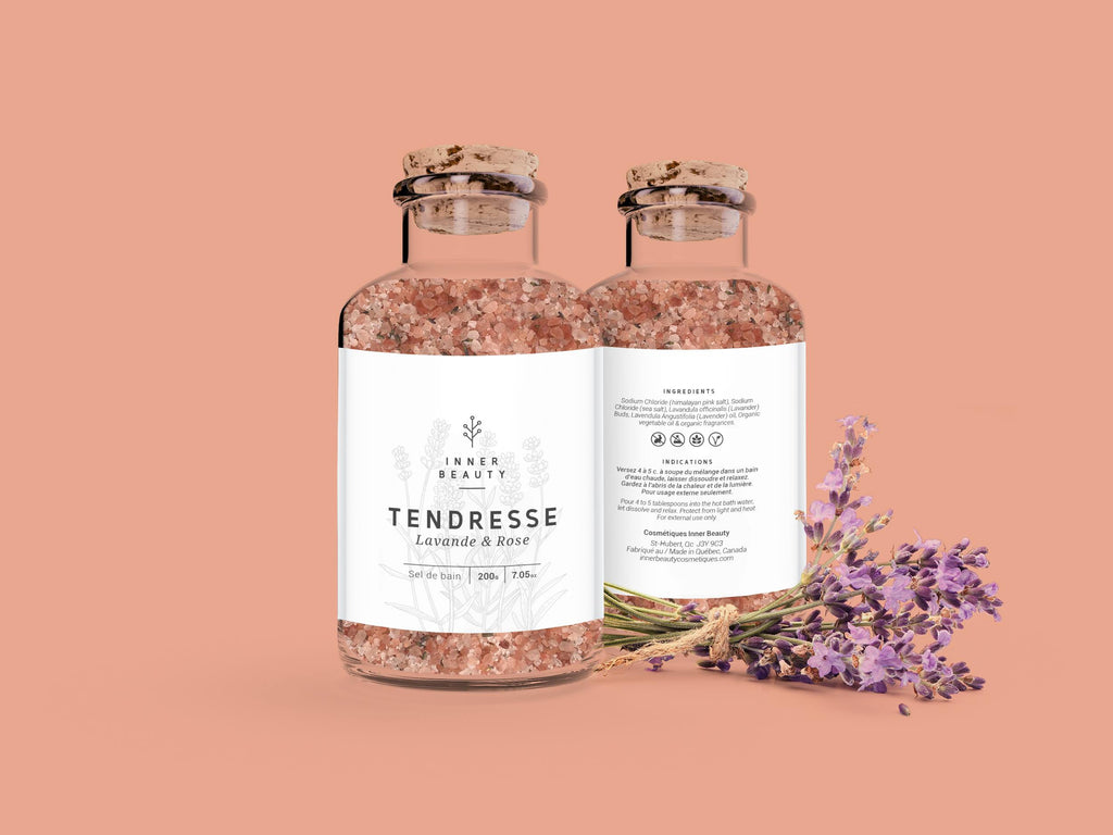Sel Tendresse, lavande et rose
