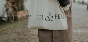 Alice & Peg Logo on Eco Cotton Tote Bag - Ethical Gifts