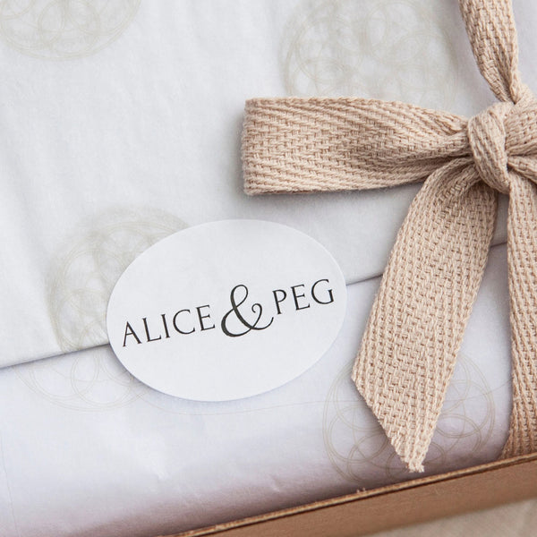 Alice & Peg Pamper Gift Box - Recharge Letterbox Gift Set - Ethical Vegan Pamper Gift UK - Each gift set is beautifully handwrapped in our custom gift wrapping