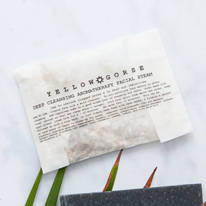 Alice & Peg Pamper Gift Box - Detox Pamper Self Care Gift Set - Vegan Ethical Pamper Gift UK - Handmade charcoal face mask, handmade charcoal soap bar, deep cleanse face steam cubes, bamboo face cloth and set of organic cleansing herbal teas.