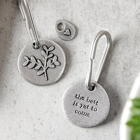 """The Best is Yet To Come"" Keyring by Kutuu"