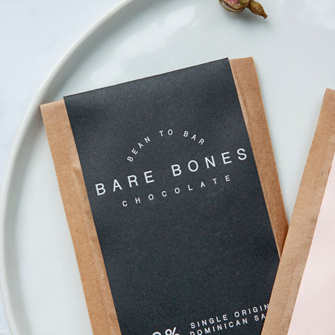 Mini Dark Chocolate Bar (68% Single Origin Dominican Salt) by Bare Bones Chocolate