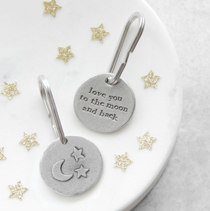 """Love You To The Moon and Back"" Keyring by Kutuu"