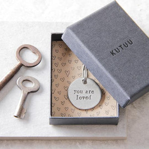 """You Are Loved"" Keyring by Kutuu"